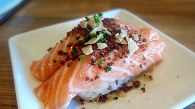 Salmon dinner from Foodie Buddha