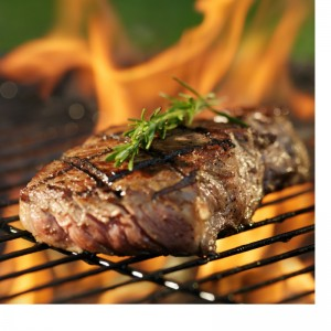 Steak is a high protein meal