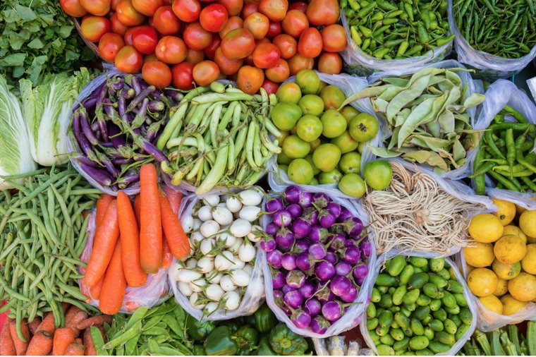 Clean eating, Fruits and vegetables